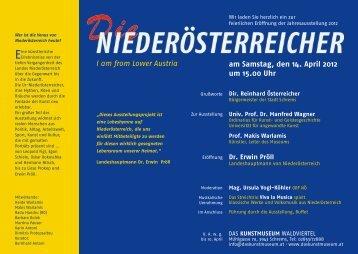am Samstag, den 14. April 2012 um 15.00 Uhr I am from Lower Austria
