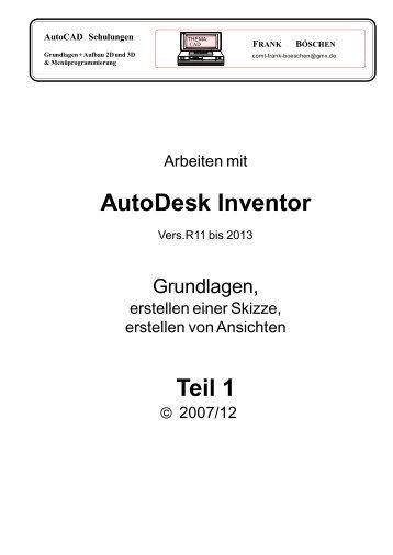 AutoDesk Inventor Teil 1 - VHS-DH.de