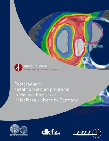 Postgraduate, distance learning programs in Medical Physics at ...