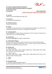 43. Deutsche Jugend-Hallenmeisterschaften 18. Deutsche ...