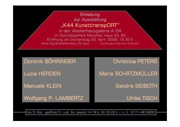 Einladung und Kurzkatalog - Künstlerhaus Kürten