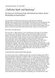Winnender Zeitung, 28. April 2009 (Interview) - Keine Mordwaffen ...