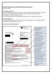 Die Renteninformation der Deutschen Rentenversicherung - BDRD
