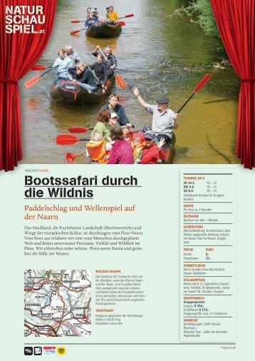 Infos als .PDF downloaden - NATURSCHAUSPIEL.at
