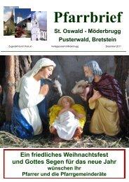 Ein friedliches Weihnachtsfest und Gottes Segen für das neue Jahr