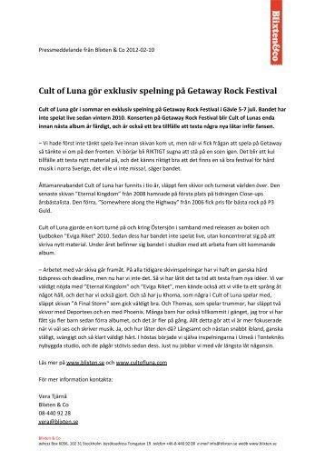 Cult of Luna gör exklusiv spelning på Getaway Rock Festival
