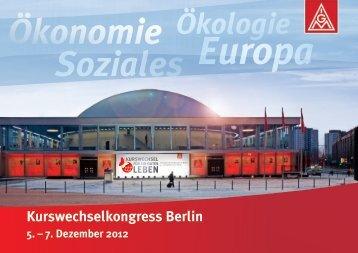 Broschüre zum Kurswechselkongress in Berlin