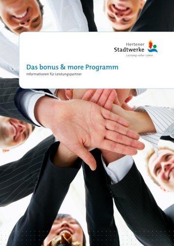 Das bonus & more Programm