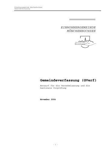 Gemeindeverfassung (GVerf) - Gemeinde Münchenbuchsee