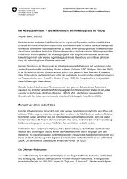 ausführlichen Bericht - MeteoSchweiz
