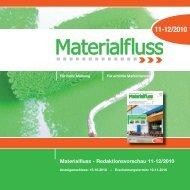 Materialfluss - Redaktionsvorschau 11-12/2010 - materialfluss.de