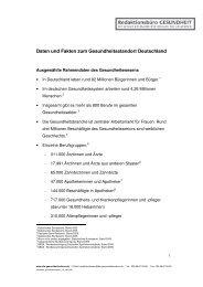 Daten und Fakten zum Gesundheitsstandort Deutschland - johner.org