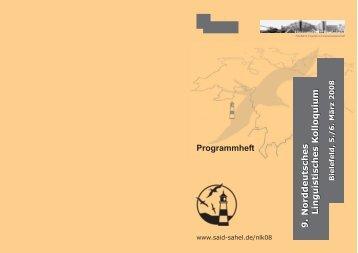 9. Norddeutsches Linguistisches Kolloquium 9 ... - Dr. Said Sahel