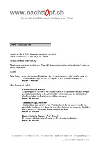 Offerte pdf - Nachttopf.ch