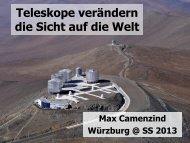 Teleskope verändern die Weltsicht