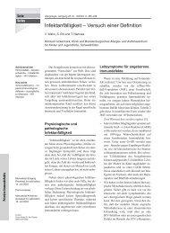 Infektanfälligkeit - Arbeitsgemeinschaft Pädiatrische Immunologie