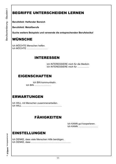 Eigenschaften von menschen arbeitsblatt