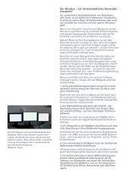 Der Monitor – ein farbverbindliches Kontrollin ... - Mauritius Images