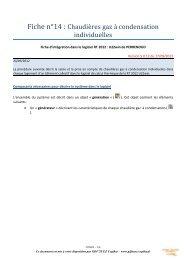Fiche n°14 : Chaudières gaz à condensation individuelles - Cegibat