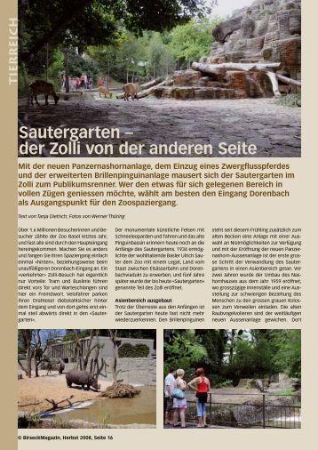 Sautergarten – der Zolli von der anderen Seite - Birseck Magazin