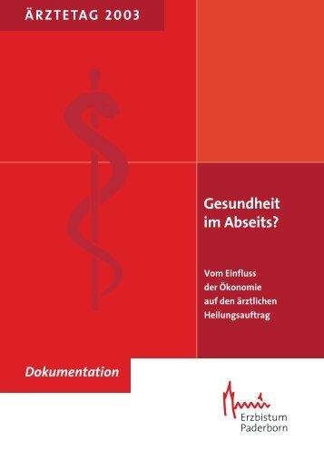 Gesundheit im Abseits? - Katholische Ärztearbeit Deutschlands eV