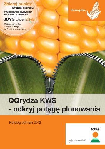 katalog kukurydza 2012 A5.indd - KWS Polska Sp. z oo