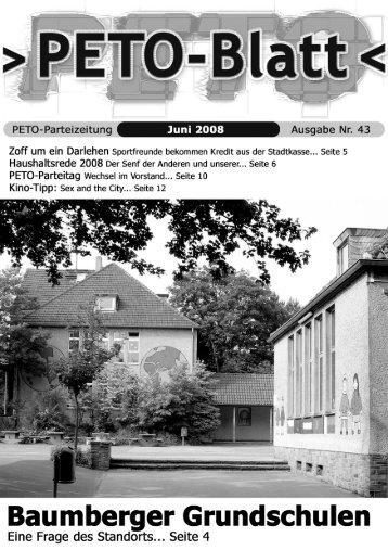 PETO-Blatt Juni 2008 herunterladen (pdf, 3,77 MB)