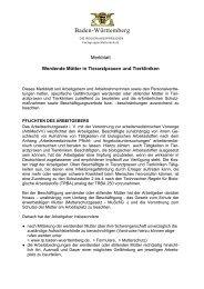 Werdende Mütter in Tierarztpraxen und Tierkliniken - Baden ...