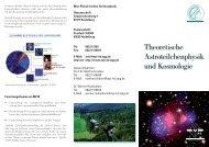 Theoretische Astroteilchenphysik und Kosmologie - Max-Planck ...