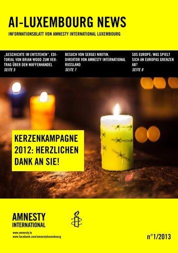 AIL news 16 janvier 2013 DE - Amnesty International