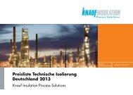 Preisliste Technische Isolierung Deutschland 2013 - intratec
