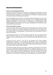 Bericht des Managements - Actelion