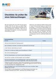 PDF Checkliste Gebrauchtwagen - Zur R+V24