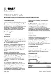 Masterkure® 220 - BASF Performance Products GmbH