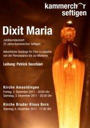 Festschrift - Kammerchor Seftigen