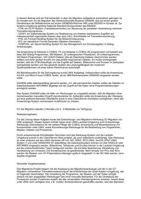 Success Story Möbel Walther Graeber Software Entwicklung