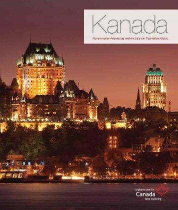 Broschüre herunterladen - Canadian Tourism Commission - Canada