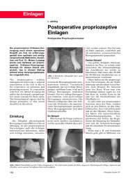 Postoperative propriozeptive Einlagen - Footpower