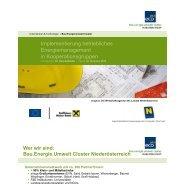 Implementierung betriebliches Energiemanagement in ... - Waldviertel