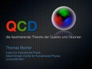 QCD, die faszinierende Theorie der Quarks und Gluonen