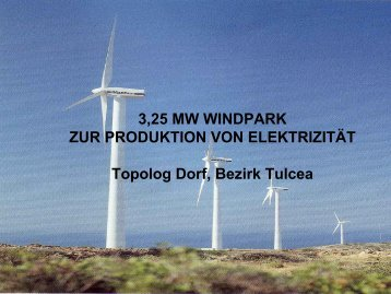 3,25 MW WINDPARK ZUR PRODUKTION VON ELEKTRIZITÄT ...