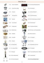 Hotel,- Tafel und Küchengeräte, Besteck und Porzellan 10/2009