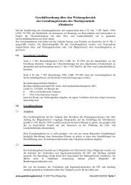 Geschäftsordnung über den Wirkungsbereich ... - Gestaltungsbeirat
