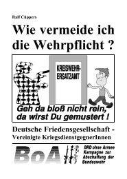 Herausgeber: Deutsche Friedensgesellschaft
