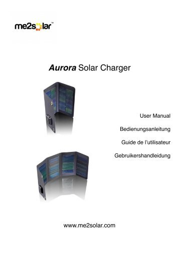 Aurora Instructions - me2solar™ Solar Power Chargers