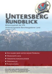 Rundblick 03/2012 - IPA - Verbindungsstelle Berchtesgadener Land