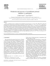 Production and recovery of recombinant protease inhibitor 1 ...