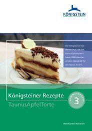 Königsteiner Rezepte TaunusApfelTorte - Kur- und Stadtinformation ...