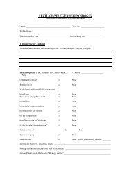 Aerztlich pflegerischer Erhebungsbogen
