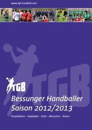 Saisonheft 2012/2013 - TGB Handball